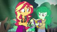 Wallflower blushing at her yearbook EGFF