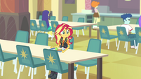 Sunset Shimmer eating lunch by herself EGFF