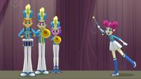 "Drum majorette singing ""at the end"" EG3"