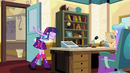 Twilight bowing to Principal Celestia EG