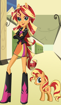FANMADE EqG Sunset Shimmer with pony counterpart