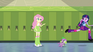 Twilight and Spike running to Celestia's office EG