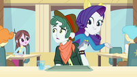 Rarity startling a student on the phone 2 EG