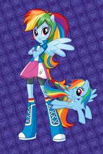 Primer Diseño de Rainbow Dash