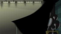 Cloaked figure rushes past Rainbow Dash EGS2