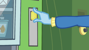 Trixie drops a coin in the vending machine EG