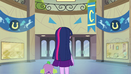 Twilight and Spike in empty hallway EG