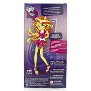 Friendship Games School Spirit Sunset Shimmer doll back of packaging