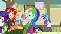 Rainbow Dash throws her hands out EG2