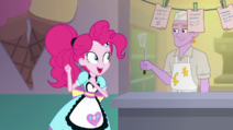 Pinkie Pie dancing next to the smiling diner chef SS15