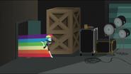 EG MF Dash wbiega przez drzwi