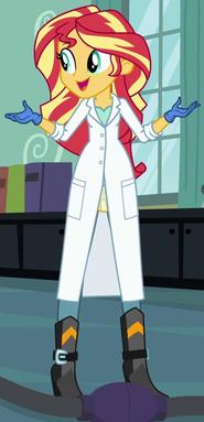 Sunset Shimmer lab coat ID EG3