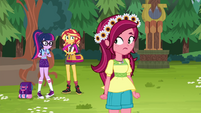 Gloriosa looking nervous at Sci-Twi and Sunset EG4