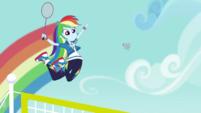 Rainbow Dash jumps high over the net CYOE4b