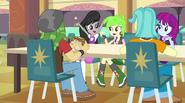 Octavia Melody conversing with students EG2