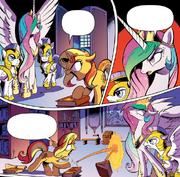 Komiks - Kłótnia Sunset Shimmer z Celestią