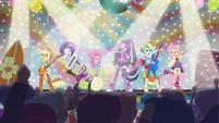 Main 6 singing on stage EG2