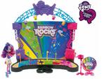 Rainbow Rocks stage and Pinkie Pie playset