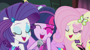 Rarity, Twilight, and Fluttershy singing together EG2