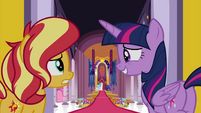 Twilight and Sunset entering the throne room EGFF