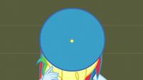 Rainbow Dash wearing a band hat EG3