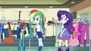 Rainbow and Rarity hear AJ EG3
