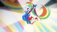 Rainbow Dash in band attire EG2