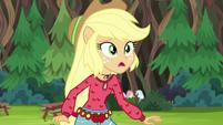 Applejack in mild surprise EG4