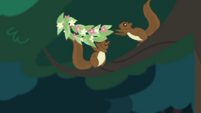 Squirrels tossing a wreath of flowers CYOE4a