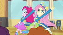 Pinkie Pie and Fluttershy running EG