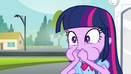 Twilight covers her mouth EG