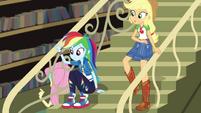 Rainbow and AJ hear Fluttershy practice lines CYOE2