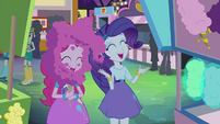 Pinkie Pie and Rarity laughing together EG2