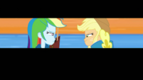 Rainbow Dash and Applejack glaring at each other EGDS4