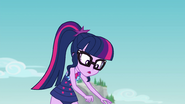 Twilight sees her selfie drone fall to the ground EGFF