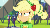 Applejack glaring at Sugarcoat EG3