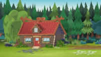 Legend of Everfree background asset - red cabin