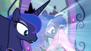 Pinkie Pie touches the mirror EG