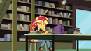 Sunset Shimmer writing thoughtfully EG3