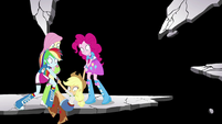 Rainbow and Pinkie save Applejack from falling EGS3