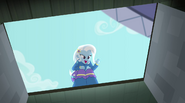Trixie looking into the pit EG2
