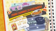 EG COYA03 02 WZ3 Karta tytułowa do odcinka ''Panna Shimmer za kierownicą'' (polska wersja dubbingowa)