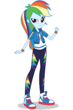Equestria Girls Digital Series Rainbow Dash official artwork