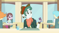 Boy talking on texting screen Equestria Girls