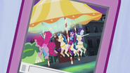 Twilight, Pinkie, and Rarity on the carousel EG2