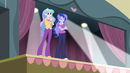Celestia clapping; Luna tapping her foot EG3
