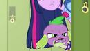 Spike growls angrily EG