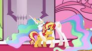 Sunset Shimmer hugging Princess Celestia EGFF