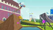 Rainbow jumps a dirt ramp EG3