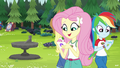 Fluttershy assigned to Amethyst Tent EG4.png